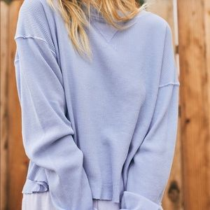 Tops - Green Brandy Melville J Galt Long Sleeve Thermal